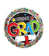 "18"" Foil Balloon Congrats Grad Little Star"