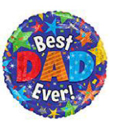 "18"" Foil Balloon Best Dad Ever Stars"