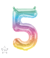 "16"" Airfill Only Number 5 Jelli Ombre Balloon"