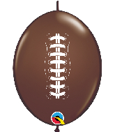 "6"" Quick Link Football Latex Chocolate Brown (50 Per Bag)"