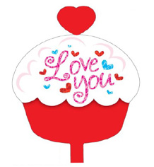 "18"" I Love You Cupcake Foil Balloon"
