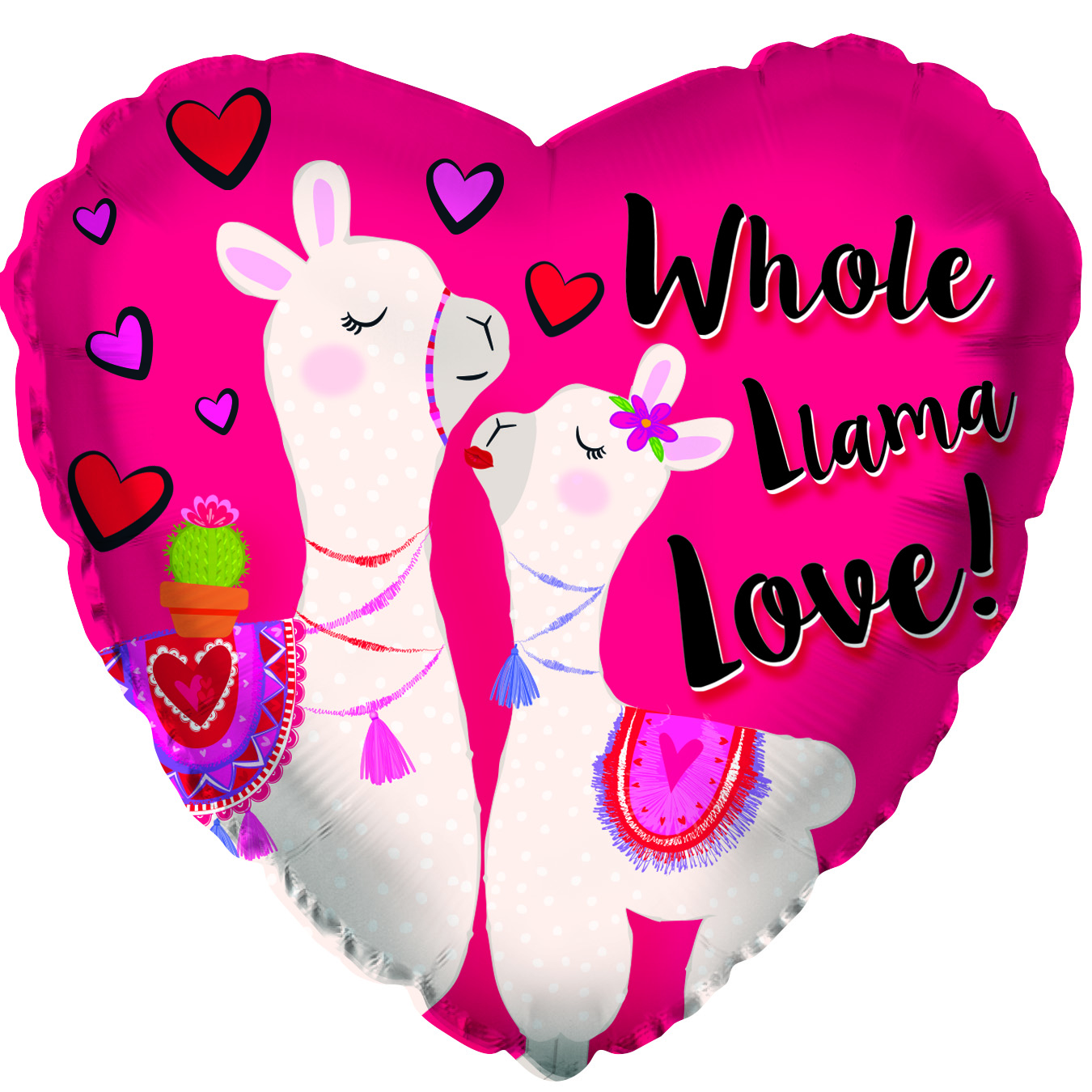 "17"" Whole Llama Love Foil Balloon"