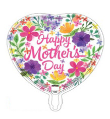 """18"""" Happy Mother's Day Watercolor Foil Balloon"""