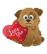 "18"" I Love You Puppy Dog Shape Balloon"