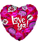 "17"" Love Conversations Foil Balloon"