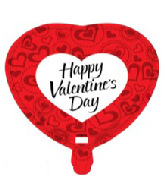 "18"" Happy Valentine's Day Red and White Hearts"