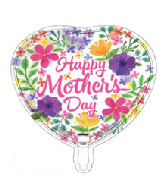 "18"" Happy Mother's Day Watercolor Foil Balloon"
