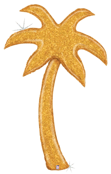 5&#39 Foil Gold Palm Tree (Special Delivery) Foil Balloon