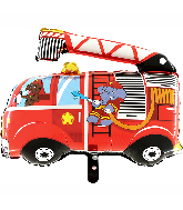 "30"" Fire Truck Foil Balloon"