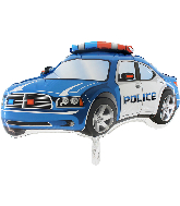 "31"" Police Car Blue Foil Balloon"