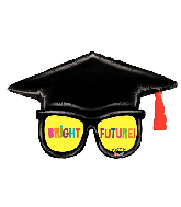 "39"" Mighty Bright® Grad Glasses Foil Balloon"
