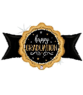 "39"" Holographic Gold Grad Seal Foil Balloon"