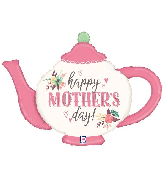 "35"" Foil Mother&#39s Day Vintage Teapot Foil Balloon"