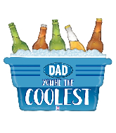 "33"" Foil Coolest Dad Cooler Foil Balloon"