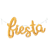 "53"" Air Filled Only Fiesta Script - Gold Foil Balloon"