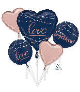 Bouquet Navy Wedding Foil Balloon