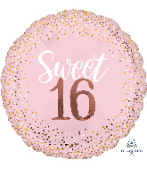 "28"" Jumbo  Sixteen Blush Foil Balloon"