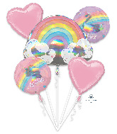 Bouquet Magical Rainbow Foil Balloon