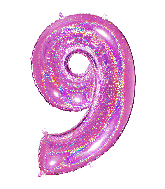 "40"" Number ""9"" Fucshia Glitter Holographic Balloons"