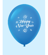 "11"" New Years Fireworks Latex Balloons Blue (25 Per Bag)"