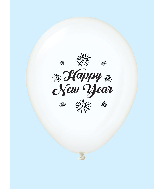 "11"" New Years Fireworks Latex Balloons Clear (25 Per Bag)"