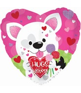 "17"" Hugs & Kisses Puppy Foil Balloon"