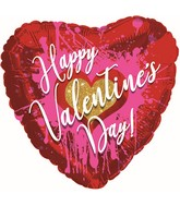 """13"""" Airfill Only Happy Valentine's Day Abstract Foil Balloon"""