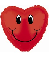 """4"""" Airfill Smiley Face Heart M95"""