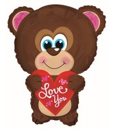 "22"" Love You Blue Eyes Bear Shape"