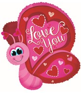 "25"" Love You Flutterfly Butterfly Balloon"