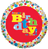 "18"" Basic Birthday Foil Balloon"