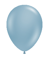 "24"" Round Blue Slate Latex Balloons 5 Count"