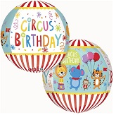 "16"" Orbz Circus Theme Birthday Balloon"