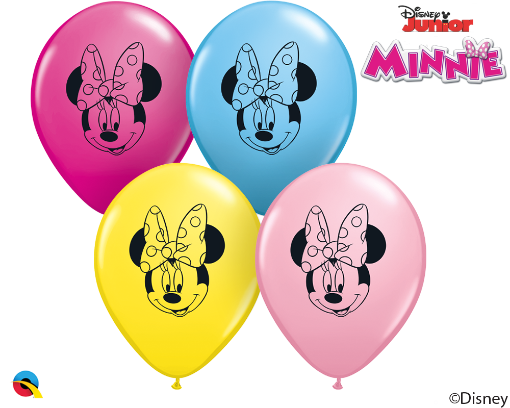 """5"""" Minnie Mouse Face Latex Balloons (100 Per Bag)"""