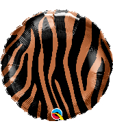 "18"" Tiger Stripes Pattern Foil Balloon"