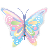 "40"" Shape Beautiful Butterfly Foil Balloon"