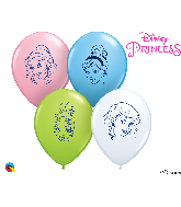 "5"" Princess Faces Latex Balloons (100 Per Bag)"