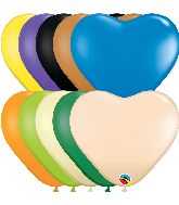 "6"" Heart Opaque Heart Assorted Latex Balloons (100 Per Bag)"