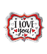 "14"" I Love You Marquee Foil Balloon"