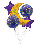 Bouquet EID Mubarak Foil Balloon