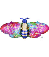 "39"" Tie-Dye Bee SuperShape Foil Balloon"