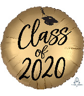 "18"" Satin Infused Graduation Class of 2020 Foil Balloon"
