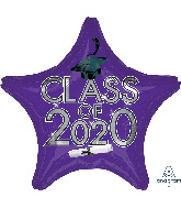 "18"" Graduation Class of 2020 - Purple Foil Balloon"