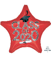 "18"" Graduation Class of 2020 - Red Foil Balloon"
