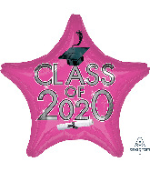 "18"" Graduation Class of 2020 - Pink Foil Balloon"