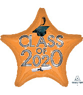 "18"" Graduation Class of 2020 - Orange Foil Balloon"