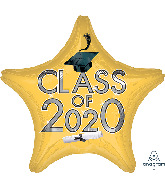"18"" Graduation Class of 2020 - Gold Foil Balloon"