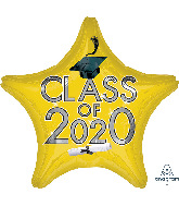 "18"" Graduation Class of 2020 - Yellow Foil Balloon"
