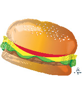 "26"" Hamburger with Bun SuperShape Foil Balloon"