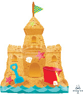 "30"" Sandcastle Pail & Shovel SuperShape Foil Balloon"